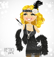 Retro glamour gangster girl vector | Price: 1 Credit (USD $1)