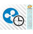 ripple credit counter flat icon with bonus vector image vector image