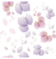 rose leaves pattern background vector image vector image