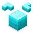 seamless game block isometric cubes nature vector image