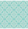 seamless vintage floral pattern blue vector image vector image