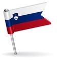 Slovenian pin icon flag vector image