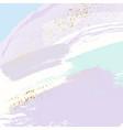 sparkled glittern golden splashes on pastel blue vector image