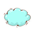 speech bubble blank blue cloud with shadow on vector image