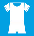 sport shirt and shorts icon white vector image vector image
