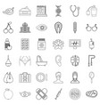 spray icons set outline style vector image vector image