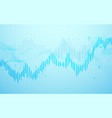 stock market chart business graph background vector image