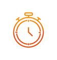 stopwatch sport gym fitness gradient line vector image