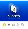 Success icon in different style vector image vector image