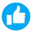 thumb up symbol finger up icon vector image vector image