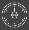 time management line icon seo and development vector image