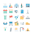 Travel and Tourism Colored Icons 4 vector image vector image