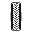 tread pattern icon simple style vector image