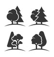 trees group logo set on white background vector image vector image