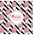 valentine black stripe pattern background vector image vector image