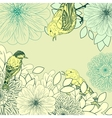 Vintage background with birds and flowers vector image vector image