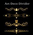 vintage typographic divider in art deco design vector image vector image