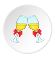 Wedding glasses icon cartoon style vector image vector image