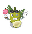 with ice cream breadfruit with in character vector image vector image