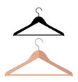 wood hanger flat style front vector image vector image