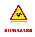yellow warning biohazard icon background im vector image