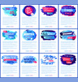 big winter sale set of posters vector image