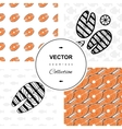 Fish seamless background set vector image