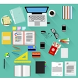 Working place in flat design vector image