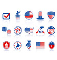 election icons and buttons vector image