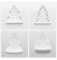 Set of four 3d christmas trees vector image