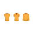 a set of orange t-shirts vector image vector image