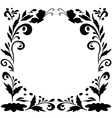 Abstract floral background silhouettes vector | Price: 1 Credit (USD $1)
