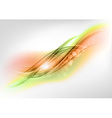 abstract green and orange vector image vector image