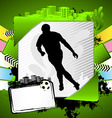 abstract soccer summer frame vector image vector image