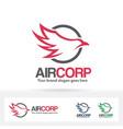 air company logo vector image vector image