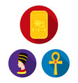 ancient egypt flat icons in set collection for vector image vector image