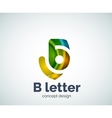 B letter concept logo template vector image vector image