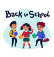 back to school banner design with colorful vector image vector image