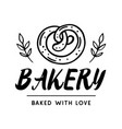 bakery logotype badge label vector image vector image