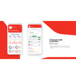 banking app ui kit for responsive mobile app vector image
