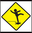 beware step sign warning symbol vector image vector image