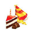 Birthday cake isolated vector image vector image