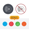 Brakes icon Auto disk repair sign vector image vector image