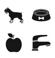 breed cooking and or web icon in black stylevet vector image vector image