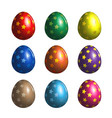 bright colored easter eggs with star pattern vector image vector image
