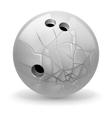 Broken ball vector image