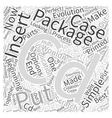 CDs in a package Word Cloud Concept vector image vector image