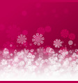 christmas pink background vector image vector image