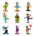 clown icons vector image