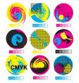 CMYK logos vector image